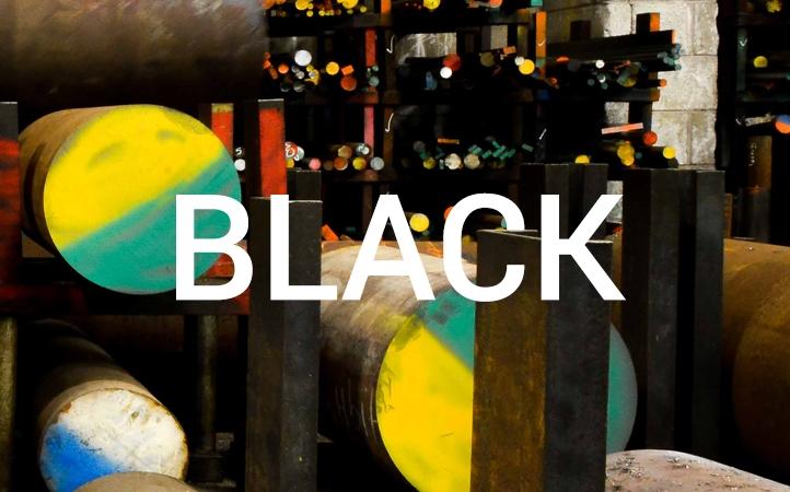 Close up of steel stock EN3 black
