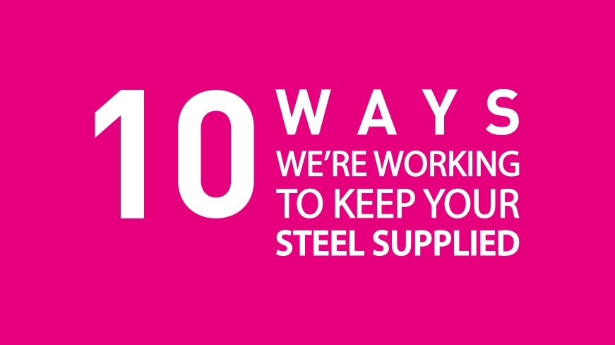 Text graphic about steel stock supply